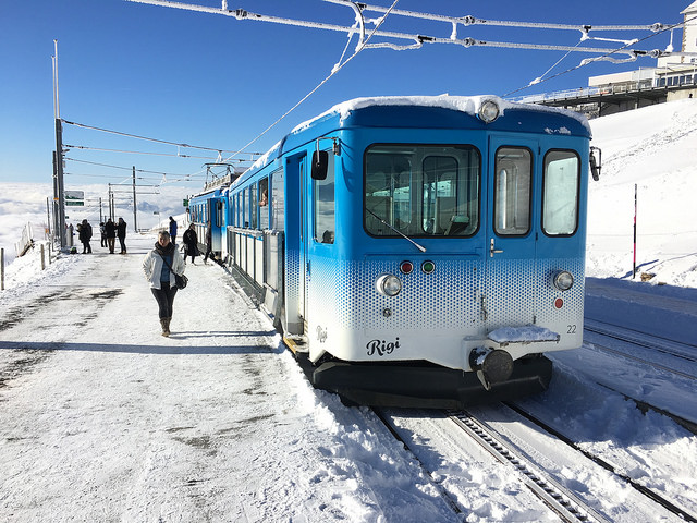Cog railway from Mount Rigi-Kulm to Arth-Goldau