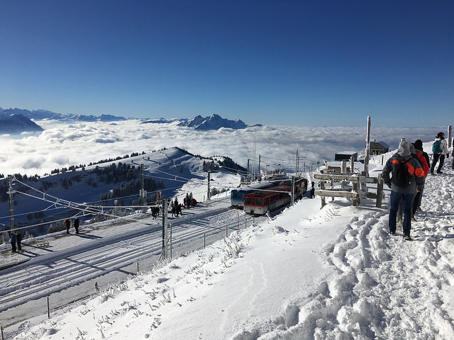 Looking almost due west from Mount Rigi-Kulm