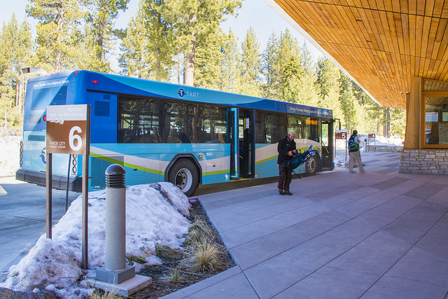 """TART bus standing at Tahoe Transit Center"""